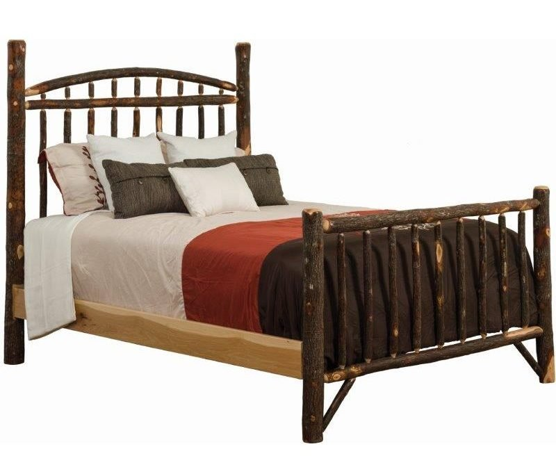 Rustic Hickory Log Bed – Dakota Style