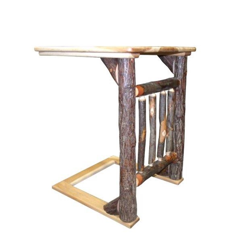 Awe Inspiring Hickory Over The Arm Sofa Table Caddy With Spindles Machost Co Dining Chair Design Ideas Machostcouk