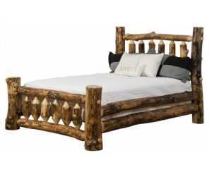 Rustic Aspen Log Mission Style Bed