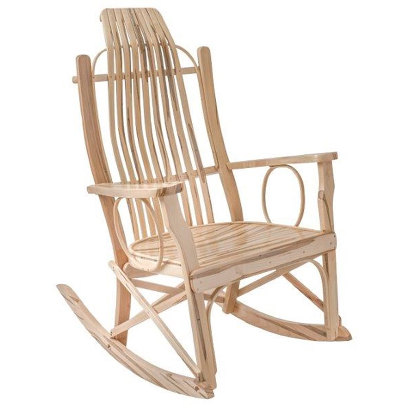 Wormy Maple Flat Arm Rocking Chair