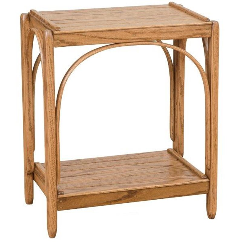 Oak 2 Tier Side Table In Provincial Stain