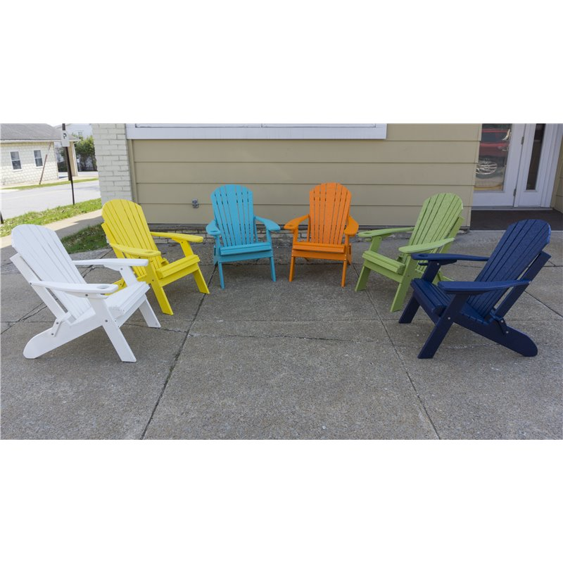 Poly Folding Adirondack Chair with Rotating Phone / Tablet Holder