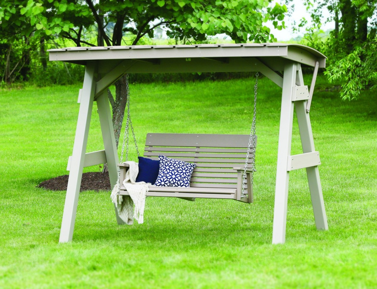 Berlin Gardens Poly Casual Back Porch Swing – Seats Two