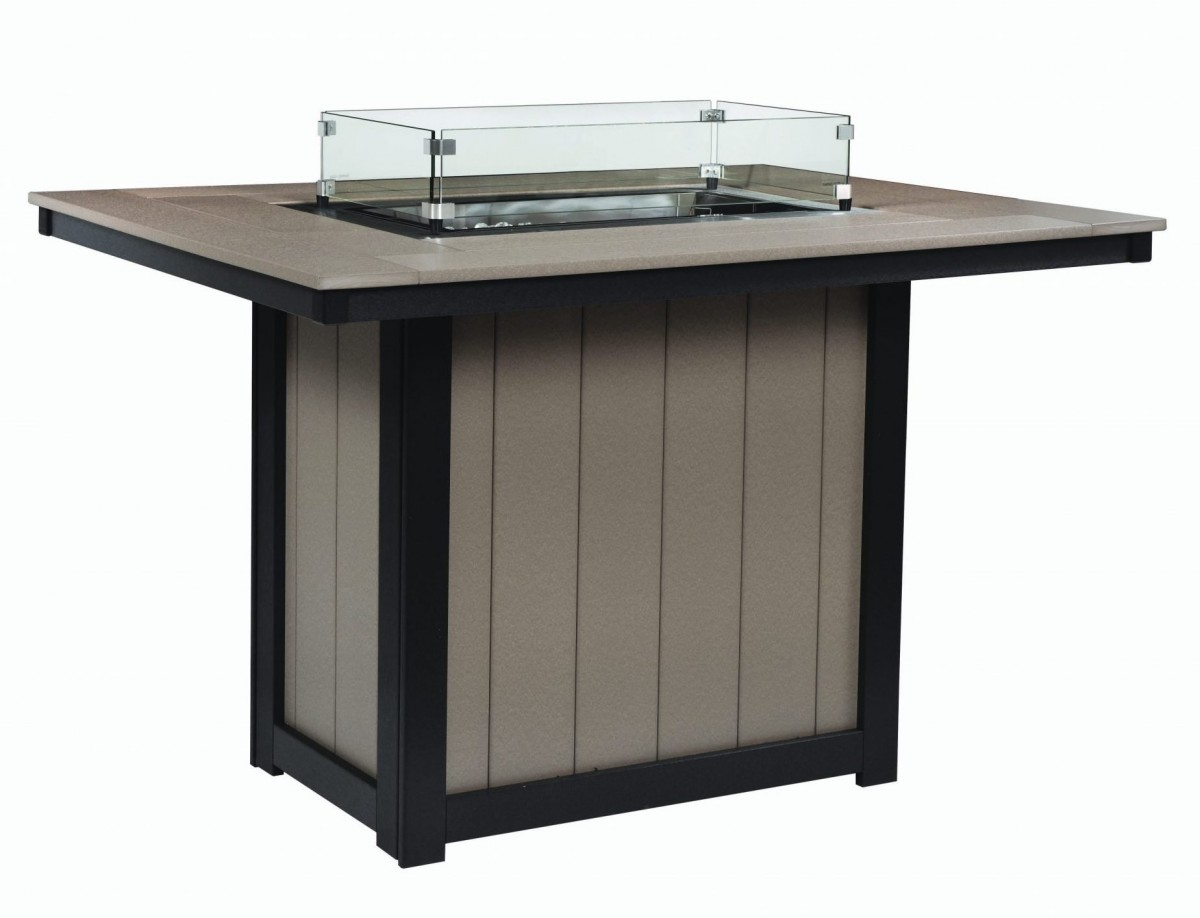 Berlin Gardens Donoma Counter Height Rectangle Fire Table