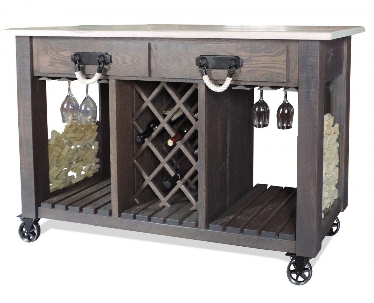 Timberline Wine Server In Distressed Oak