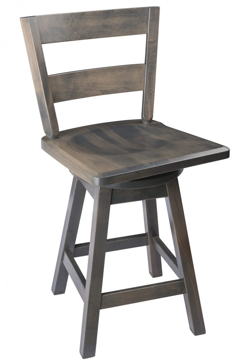 Outstanding Straight Back Swivel Bar Stool In Maple Wood The Amish Ibusinesslaw Wood Chair Design Ideas Ibusinesslaworg