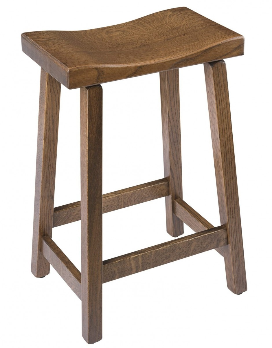 Saddle Bar Stool In Quarter Sawn Oak