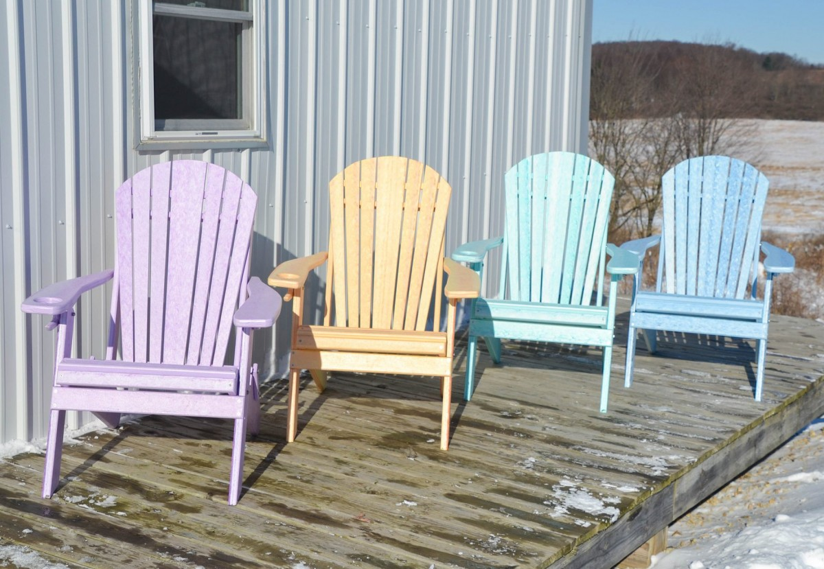 Fanback Folding Adirondack Chair In Recycled Plastic – Dream Colors