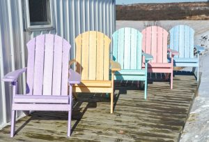 Seaside Folding Adirondack Chair In Recycled Plastic – Dream Colors