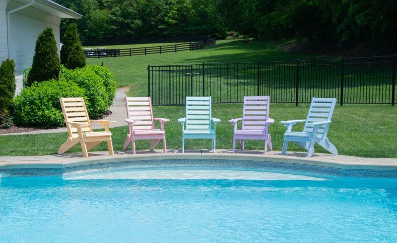 Ladderback Folding Adirondack Chair In Recycled Plastic – Dream Colors