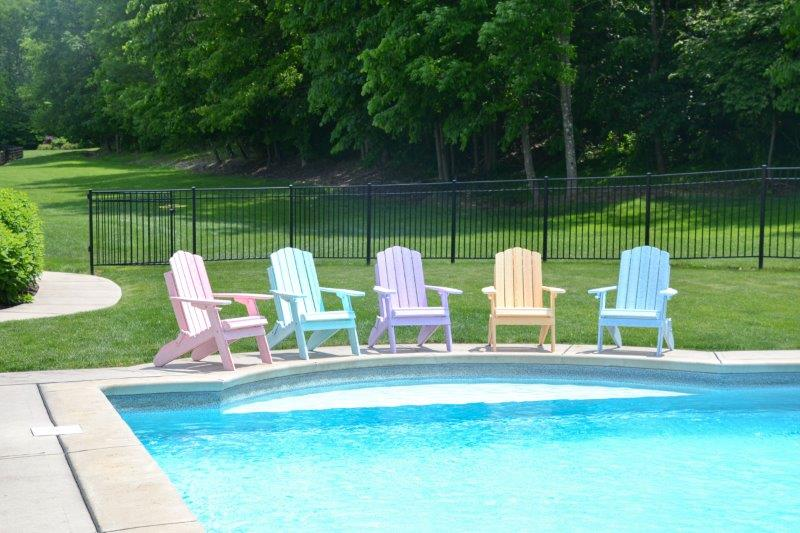 Country Classic Folding Adirondack Chair In Recycled Plastic – Dream Colors