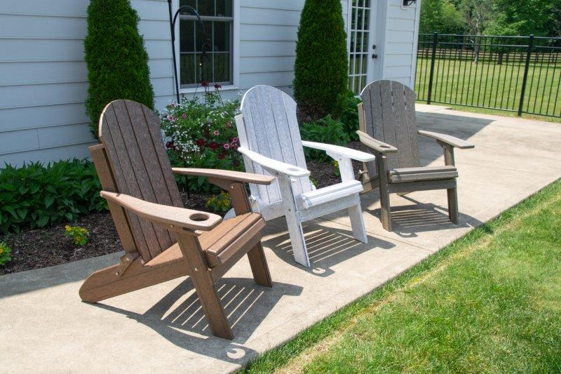 Seaside Folding Adirondack Chair In Recycled Plastic – Woodgrain Colors