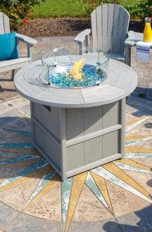Finch SummerSide Round Fire Table-Multiple Sizes