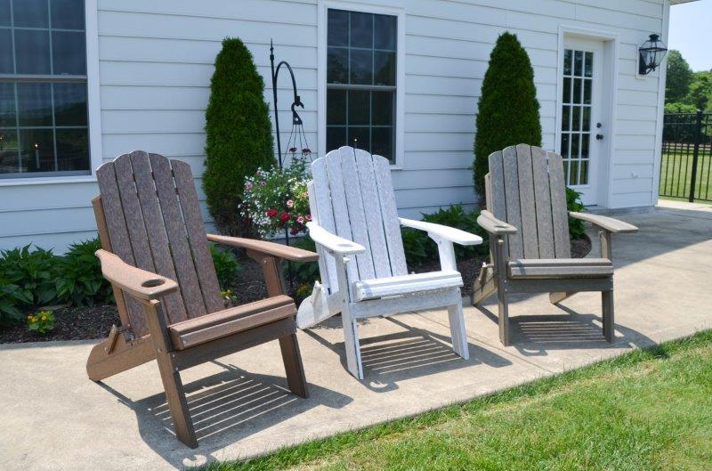 Country Classic Folding Adirondack Chair In Recycled Plastic – Woodgrain Colors