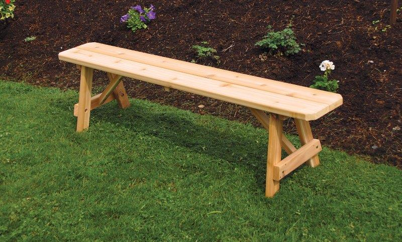 6 Foot Traditional Picnic Bench In Western Cedar