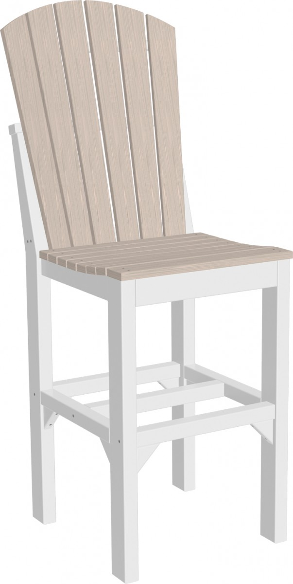 Luxcraft Poly Outdoor Adirondack Side Chair Set Of 4 – Bar, Counter, Or Dining Height