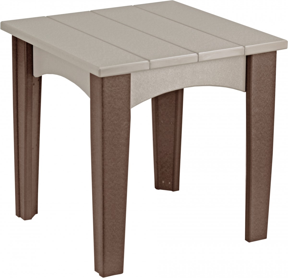 Luxcraft Island Square End Table In Recycled Plastic