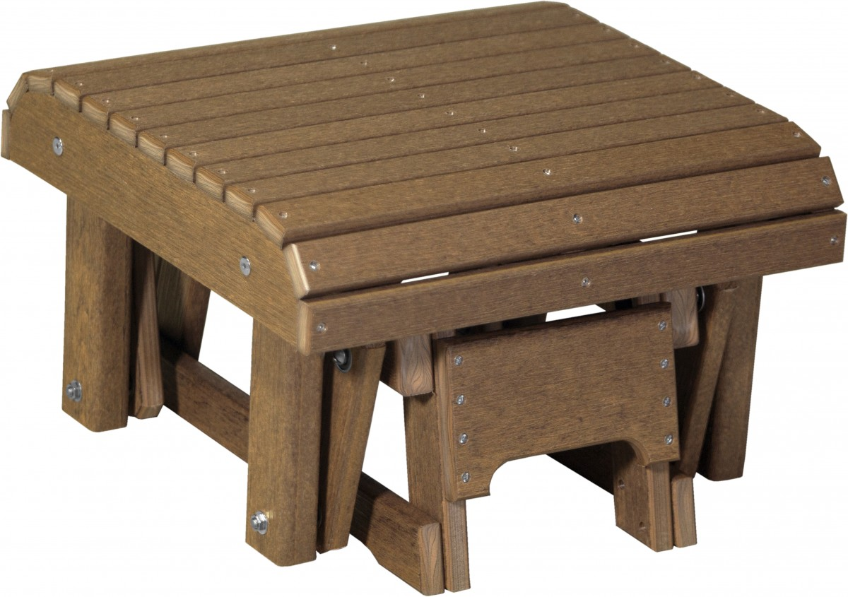 Luxcraft Poly Lumber Gliding Footrest In Premium Woodgrain Recycled Poly