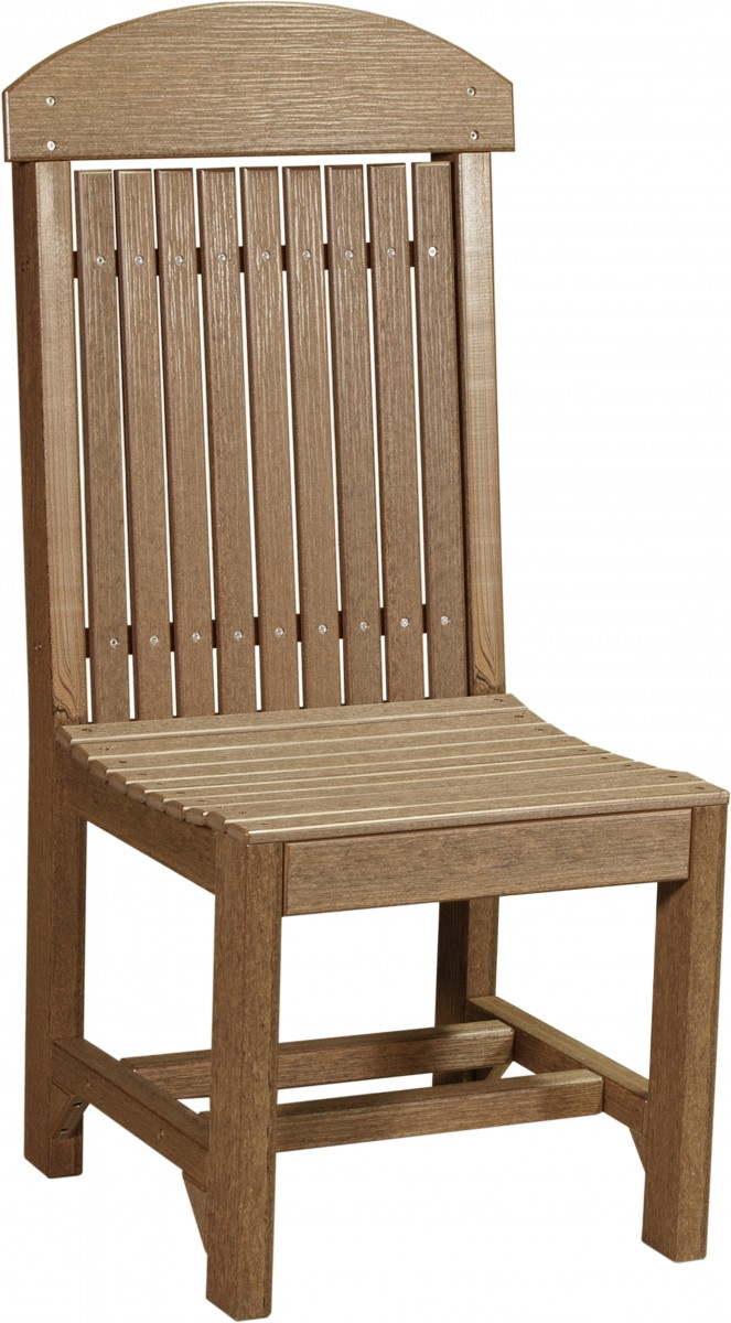 Luxcraft Poly Outdoor Regular High-Back Chairs Set Of 4 In Woodgrain Poly Lumber – Dining, Counter, Or Bar Height