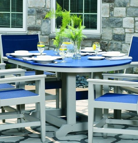 Berlin Gardens Garden Classic Oblong Table With Hammered Finish Table Top