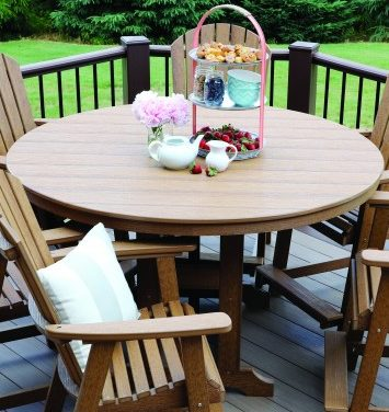 Berlin Gardens Garden Classic Natural Finish Round Table-Multiple Sizes