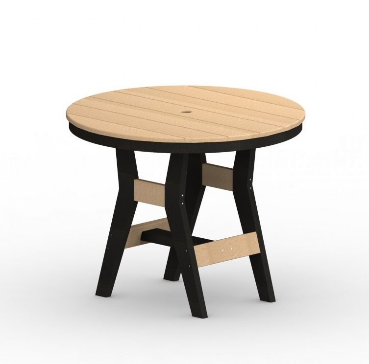 Berlin Gardens Harbor Natural Finish Round Table-Multiple Sizes