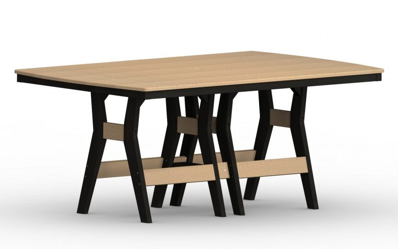 Berlin Gardens Harbor Rectangular Table With Hammered Finish Table Top-Multiple Lengths